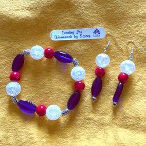 Accessories - Patriotic bracelet and earrings